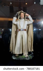 KUALA LUMPUR, MALAYSIA - NOVEMBER 19, 2017: Luke Skywalker from Star Wars: The Last Jedi. This roadshow is a promotion for new Star Wars movie.