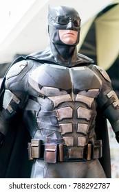 KUALA LUMPUR, MALAYSIA - NOVEMBER 19, 2017: Statue of Batman from Justice League movie.