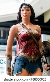 KUALA LUMPUR, MALAYSIA - NOVEMBER 19, 2017: Wonder Woman from Justice League movie