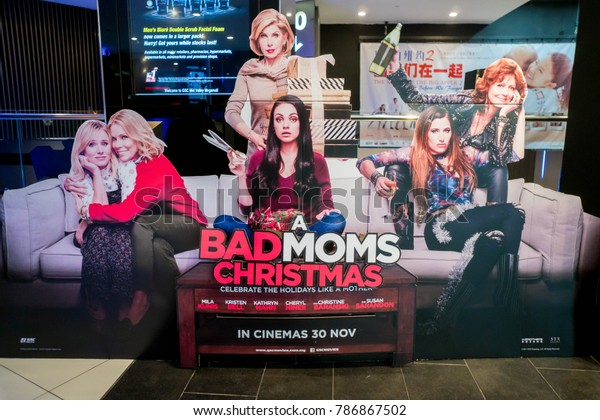 A Bad Moms Christmas Movie Poster.Kuala Lumpur Malaysia November 19 2017 Stock Photo Edit Now