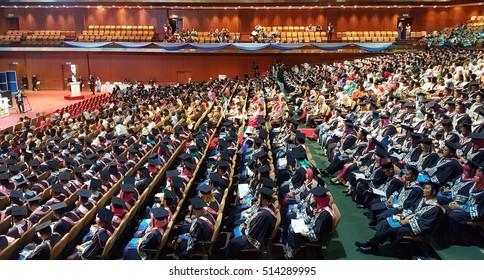 KUALA LUMPUR, MALAYSIA -NOVEMBER 1st 2016: Open University Malaysia (OUM) graduation ceremonies on Nov 1, 2016. OUM is the first open university in Malaysia.