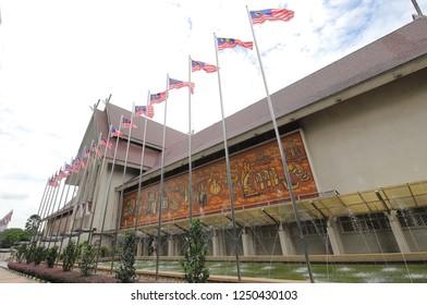 KUALA LUMPUR MALAYSIA - NOVEMBER 20, 2018: Unidentified people visit National Museum of Malaysia in Kuala Lumpur Malaysia