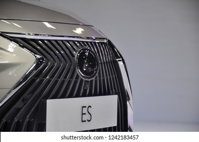 KUALA LUMPUR, MALAYSIA - NOVEMBER 24, 2018: Lexus car brand emblem and logos. Lexus is the luxury and premium vehicle division of the Japanese automaker Toyota.
