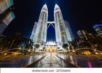 Kuala Lumpur, Malaysia - November 24, 2014: Excursion trip, building of Petronas Towers