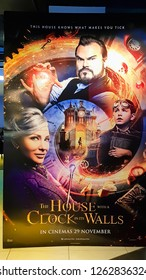 KUALA LUMPUR, MALAYSIA - NOVEMBER 26, 2018: The House with a Clock in Its Walls movie poster