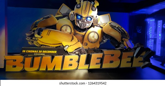 KUALA LUMPUR, MALAYSIA - NOVEMBER 26, 2018: Bumblebee Movie Poster. This movie is a reboot from previous Transformers movie