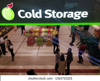 Kuala Lumpur, Malaysia. November 26, 2018. Newly upgrade Cold Storage flagship store at Suria KLCC, with a tagline 'The Fresh Food People', opened its door to citizen