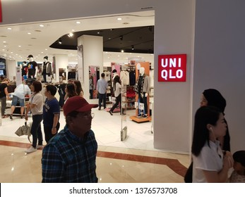 Kuala Lumpur, Malaysia. November 26, 2018. UNIQLO retail store at Suria Mall KLCC, a clothing retailer producing a collection of casualwear & accessories for men, women and children