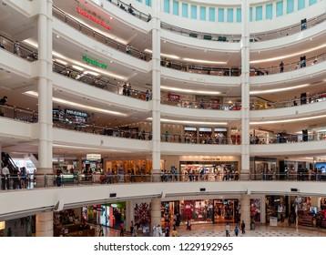 Kuala Lumpur, Malaysia  - November 27 2014: Interior view of Suria KLCC, a mall in the Petronas Twin Tower complex