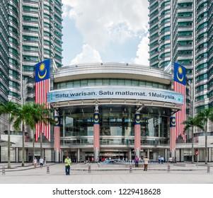 Kuala Lumpur, Malaysia  - November 27 2014: Exterior view of the Petronas Twin Towers