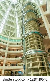 Kuala Lumpur, Malaysia  - November 27 2014: Iterior of Suria KLCC, a mall in the Petronas Twin Tower building.