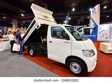 KUALA LUMPUR, MALAYSIA - NOVEMBER 28, 2018 : Daihatsu lorry display at Kuala Lumpur International Motor Show 2018