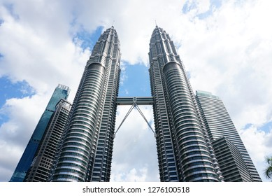 Kuala Lumpur, Malaysia - NOVEMBER 4,2018 - Petronas Towers and KLCC.Petronas Towers is a high-rise building in Kuala Lumpur, Malaysia.This tower was built in 1998.height is 452 m. - Image