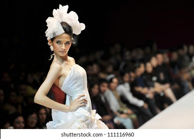 KUALA LUMPUR, MALAYSIA - NOVEMBER 8: Model presents creation by Hatta Dolmat during Malaysia-International Fashion Week on November 8, 2009 in Kuala Lumpur, Malaysia.