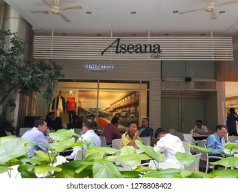 Kuala Lumpur, Malaysia. November 9, 2018. Customers having meals at Aseana Cafe, created by Malaysia's leading retailer of international luxury fashion and lifestyle brands, The Melium Group