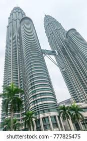 KUALA LUMPUR, MALAYSIA - OCT 31, 2014: Petronas Twin Towers in the main landmark in Kuala Lumpur and Malaysia.