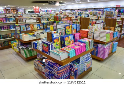 KUALA LUMPUR, MALAYSIA - OCTOBER 08, 2018 : Variety Books on display in MPH bookstore. MPH Bookstores is among the largest retail bookstore chains in Malaysia
