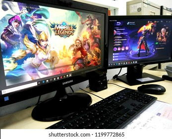 KUALA LUMPUR, MALAYSIA - OCTOBER 11, 2018 : Mobile legends game on computer screen. Mobile legend is an online games played around the world.