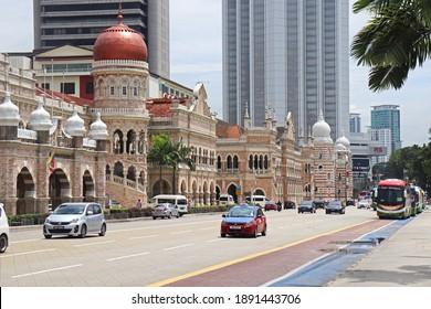 Kuala Lumpur, Malaysia - October 11st 2018: Sultan Abdul Samad historical building in Malaysia, Kuala Lumpur