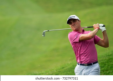 KUALA LUMPUR, MALAYSIA -OCTOBER 12, 2017. Golfer, Justin Thomas from United States in action during the first round of 2017 CIMB Classic at TPC Kuala Lumpur.