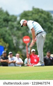 KUALA LUMPUR, MALAYSIA - October 13: Marc Leishman of Australia, make a putt at 8th green, during round three of CIMB CLASSIC 2018 at TPC Kuala Lumpur, KUALA LUMPUR, MALAYSIA on October 13, 2018.