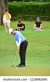 KUALA LUMPUR, MALAYSIA - October 13: Joel Dahmen of United States make a putt at 5th hole, during round three of CIMB CLASSIC 2018 at TPC Kuala Lumpur, KUALA LUMPUR, MALAYSIA on October 13, 2018.