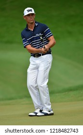 KUALA LUMPUR, MALAYSIA - October 13: Billy Horschel of United States watch his putt at 5th hole during round three of CIMB CLASSIC 2018 at TPC Kuala Lumpur, KUALA LUMPUR, MALAYSIA on October 13, 2018.