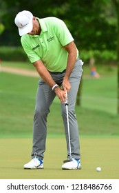 KUALA LUMPUR, MALAYSIA - October 13: Stewart Cink of United States play his putt during round three of CIMB CLASSIC 2018 at TPC Kuala Lumpur, KUALA LUMPUR, MALAYSIA on October 13, 2018.
