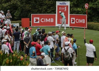 KUALA LUMPUR, MALAYSIA - OCTOBER 13, 2017. Xander Schauffele of United States in action during the 2017 CIMB Classic golf tournament at TPC Kuala Lumpur, Bukit Kiara.