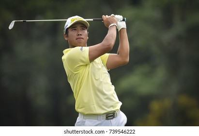 KUALA LUMPUR, MALAYSIA - OCTOBER 14, 2017 : Hideki Matsuyama of the Japan in action during  2017 CIMB Classic at TPC Kuala Lumpur