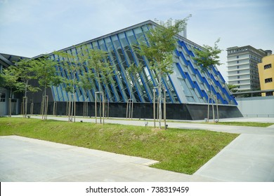 Kuala Lumpur, Malaysia – October 20, 2017 : New MRT exterior design. Malaysia MRT (Mass Rapid Transit) train, the latest public transportion system in Malaysia.lauched in July 2017.