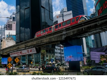 KUALA LUMPUR, MALAYSIA : OCTOBER 25, 2018 : Bukit Bintang or Star Hill, a tourist attraction place for shopping, eat and sightseeing.
