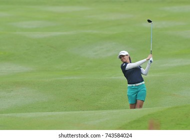 KUALA LUMPUR, MALAYSIA - OCTOBER 27, 2017 : Mo Martin of USA in action during day two of the 2017 Sime Darby LPGA Malaysia at TPC Kuala Lumpur East Course.