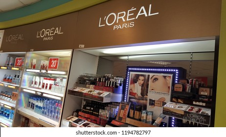 Kuala Lumpur / Malaysia - October 4 2018: Loreal Paris shop in Pearl Point Shopping Mall