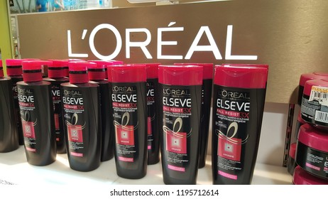 Kuala Lumpur / Malaysia - October 4 2018: Loreal Elseve fall resist products