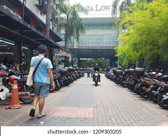 Kuala Lumpur, Malaysia. October 5, 2018. Frontage of Plaza Low Yatt, the biggest IT mall in Malaysia, looking form Jalan Bulan, Pudu, Kuala Lumpur.