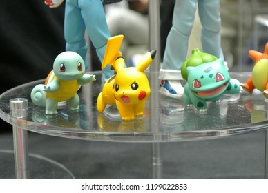 KUALA LUMPUR, MALAYSIA -OCTOBER 6, 2018: Anime character from Pokemon cartoons and games fictional action figure. Displayed for public by collector.