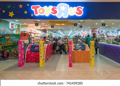 Kuala Lumpur, Malaysia - OCTOBER 8, 2017: ToyRus is a toy store that sells a variety of toy equipment.