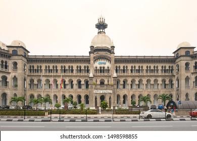 Kuala Lumpur, Malaysia - Octorber 10, 2015 : View of KTM Berhad Building, Opposite Kuala Lumpur main railway station. British colonial architect.