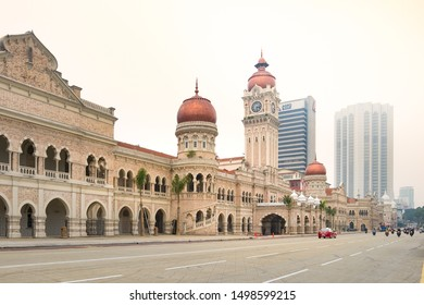 Kuala Lumpur, Malaysia - Octorber 10, 2015 : View of Sultan Abdul Samad Building, offices of the Ministry of Information, Communications and Culture of Malaysia. Merdeka Square.