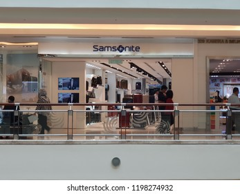 Kuala Lumpur, Malaysia. September 19, 2018. Samsonite store at Level 3, Suria KLCC. Samsonite's tagline - 'Life's a Journey', symbolizing the role Samsonite in the multi-faceted lifes of travelle