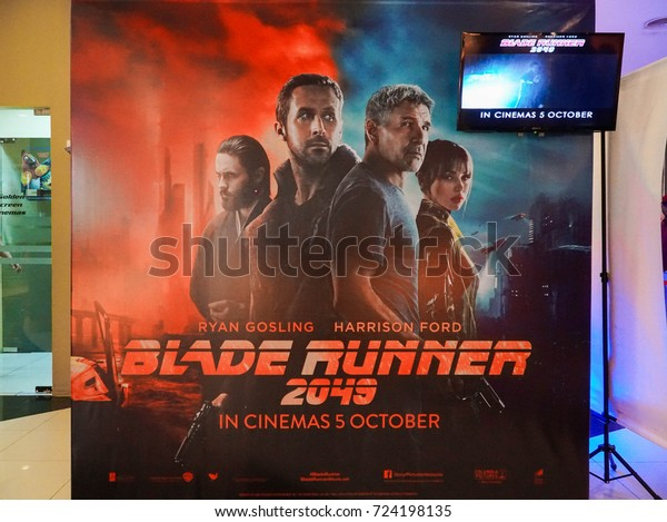 KUALA LUMPUR, MALAYSIA - SEPTEMBER 23, 2017: Blade Runner 2049 Movie Poster; is an  American neo-noir science fiction film directed by Denis Villeneuve
