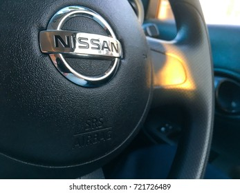 Kuala Lumpur, Malaysia. September 25, 2017. Interior shot of Nissan car. Nissan is one of Asia largest and most trusted brand in automotive industry.