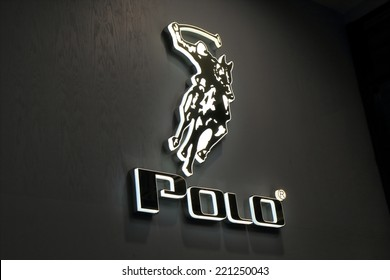 KUALA LUMPUR MALAYSIA - SEPTEMBER 27, 2014: Polo company logo - The Polo Ralph Lauren was founded in 1967 by American designer Ralph Lauren.