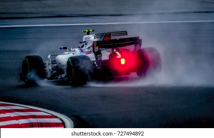 KUALA LUMPUR, MALAYSIA - SEPTEMBER 29, 2017 : William martini Racing Felipe Massa on track during practice for the Malaysia Formula One Grand Prix at Sepang Circuit