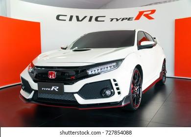 KUALA LUMPUR, MALAYSIA - SEPTEMBER 30, 2017: Honda Civic Type R at roadshow in Kuala Lumpur, Malaysia.