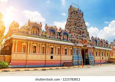 The Kuala Lumpur Malaysia - Sri Maha Mariamman Temple Dhevasthanam, Hindu temple in Chinatown