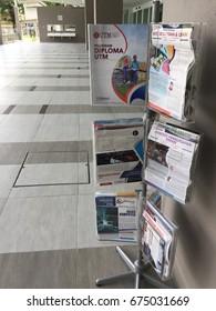 KUALA LUMPUR, MALAYSIA-JULY 7 2017: Brochure catalogue of a university