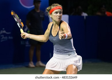 KUALA LUMPUR, MALAYSIA-MARCH 3:Elina Svitolina of Ukraine returns a ball during Day 4 of BMW Malaysian Open on March 3, 2016 at KLGCC in Kuala Lumpur, Malaysia