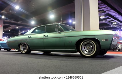 Kuala Lumpur, Malaysia-November 1,2018 : Chevrolet Impala (1968 ) is a car built by Chevrolet Division of General Motors Company. The car was displayed during the Kuala Lumpur International Motor Show